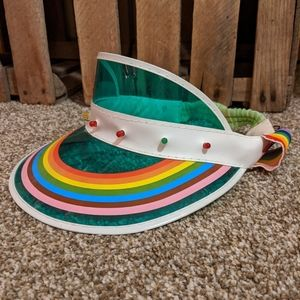 Accessories - Retro Rainbow Visor